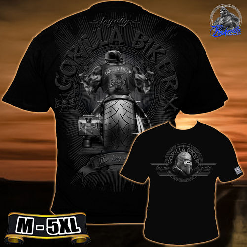 "Gorilla Biker - Men ""Big Wheel"" T-Shirt"