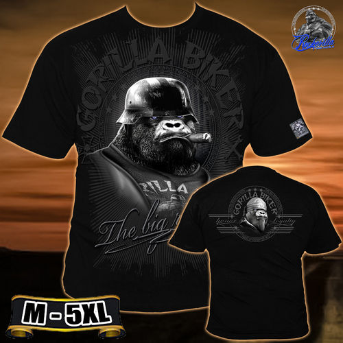"Gorilla Biker - Men ""Big Cigar"" T-Shirt"